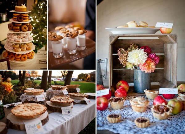 idee matrimonio invernale autunnale torte