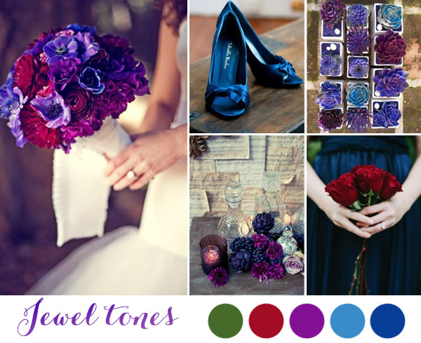 matrimonio dai colori ispirati alle pietre preziose