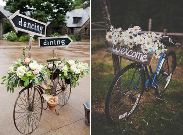 matrimonio a tema bicicletta decorazioni