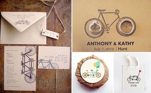 matrimonio a tema bicicletta grafica