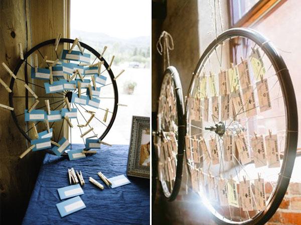 matrimonio a tema bicicletta tableau mariage