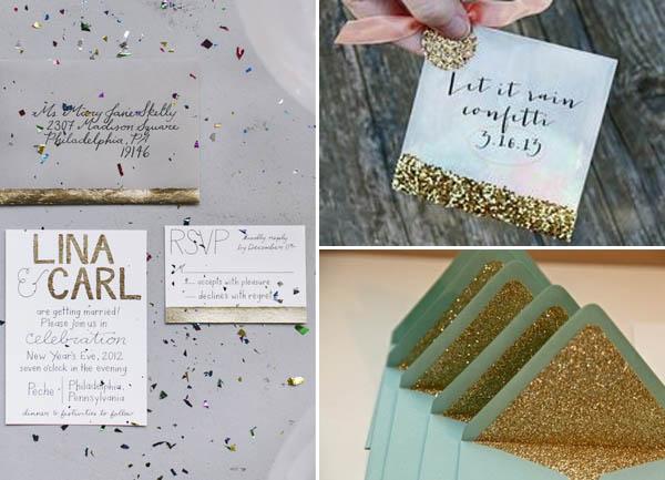 Partecipazioni Matrimonio Glitter.Matrimonio Glitter