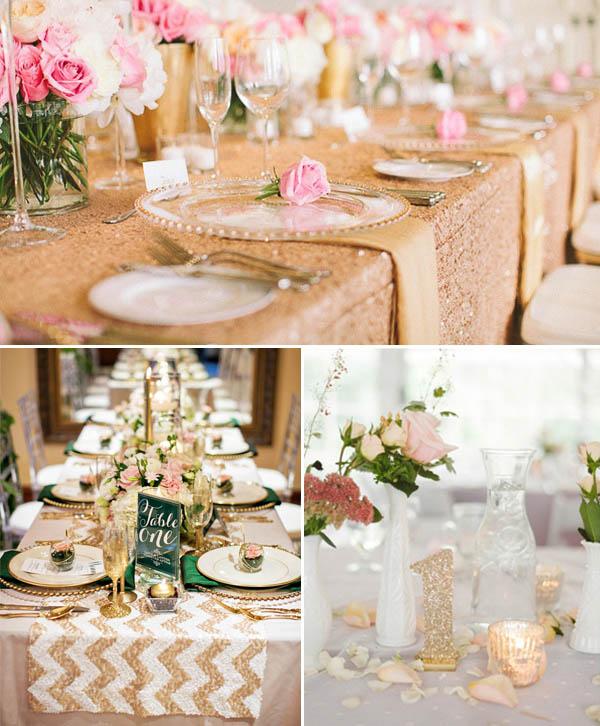 matrimonio glitter tavola