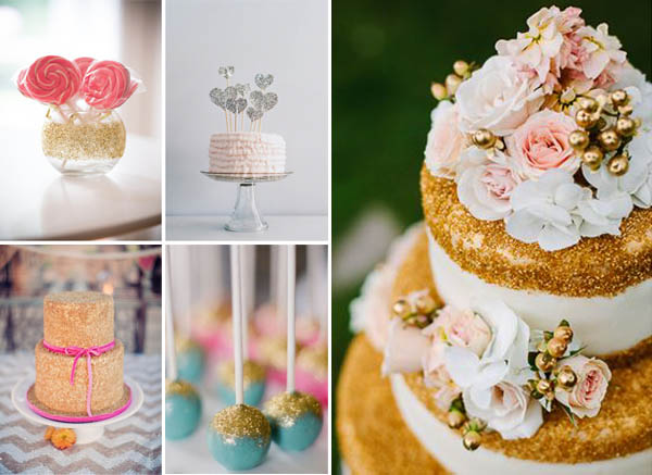 matrimonio glitter torte