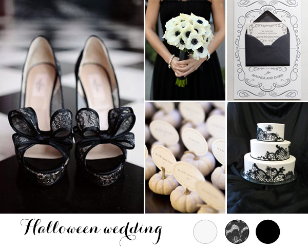 Matrimonio Tema Black And White : Inspiration board matrimonio ad halloween wonderland