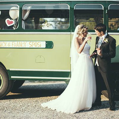 Una sposa a bordo di un autobus vintage: Francesca e Nicola
