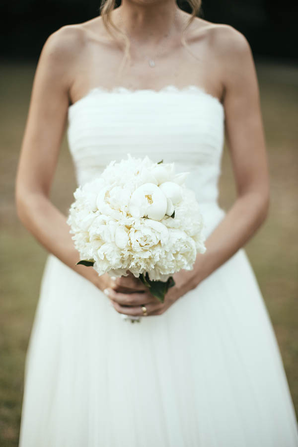 bouquet peonie bianche