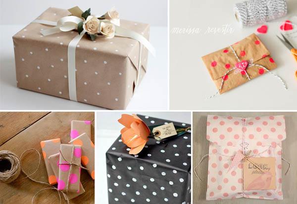 confezioni regalo a pois
