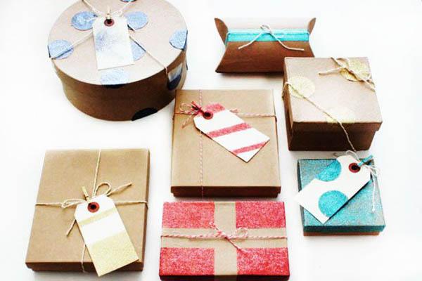 confezioni regalo glitter