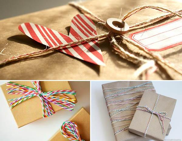 confezioni regalo spago e twine