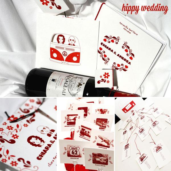 Matrimonio Tema Hippie : Partecipazioni di nozze a tema con intodesign