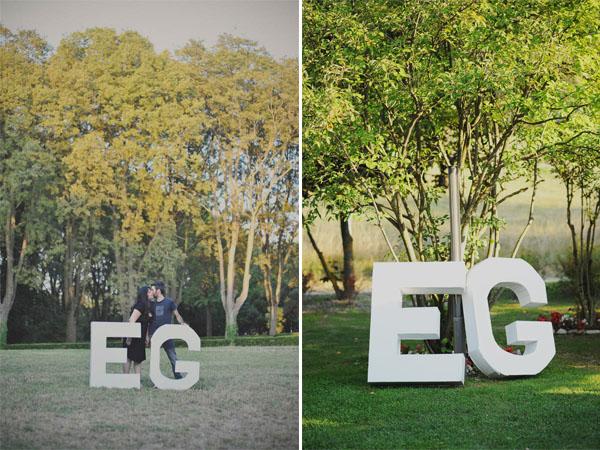 lettere cartone matrimonio fai da te