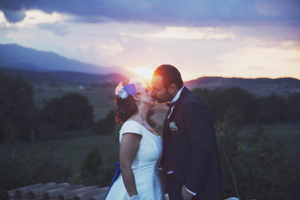 matrimonio anni 50 blu, matrimonio a l'aquila
