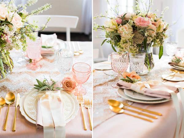 Inspiration shoot  Rosa e oro per un matrimonio romantico  2d7c67f35ed