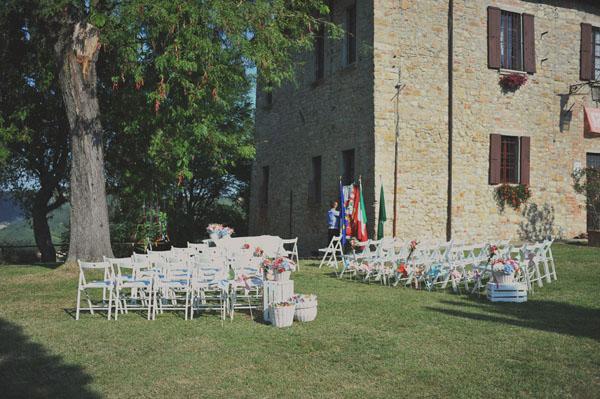 cerimonia all'aperto a fortunago
