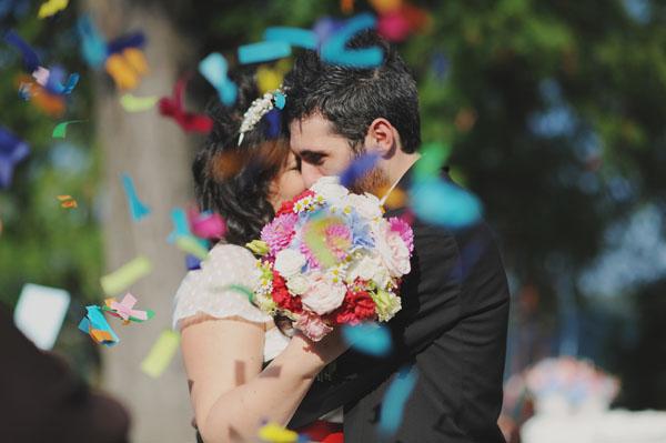 lancio coriandoli matrimonio