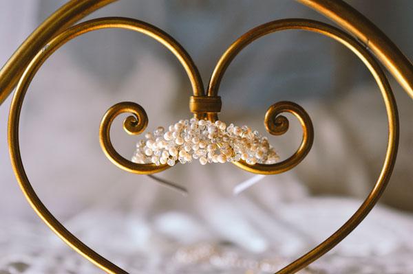 tiara da sposa con perle e swarovski