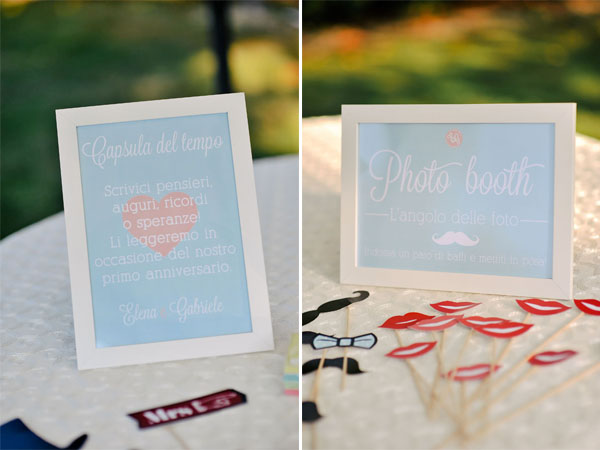 cartelli photo booth e guestbook