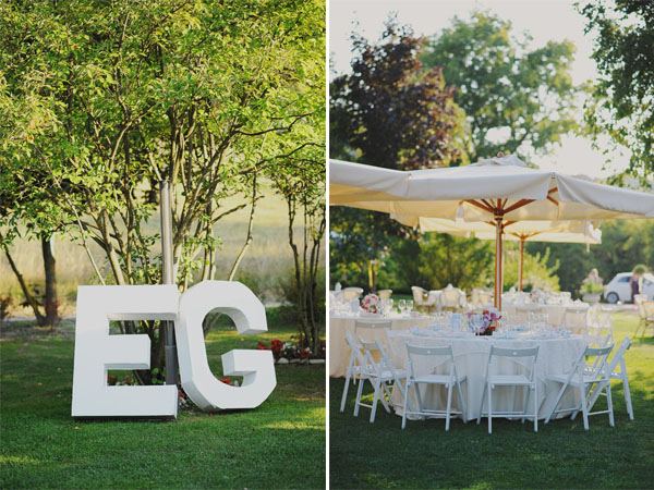 huge letters wedding decor