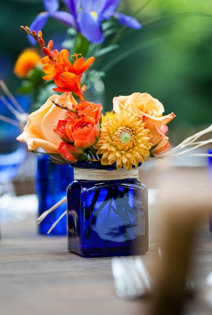 Matrimonio Azzurro E Arancione : Inspiration board matrimonio blu e arancione