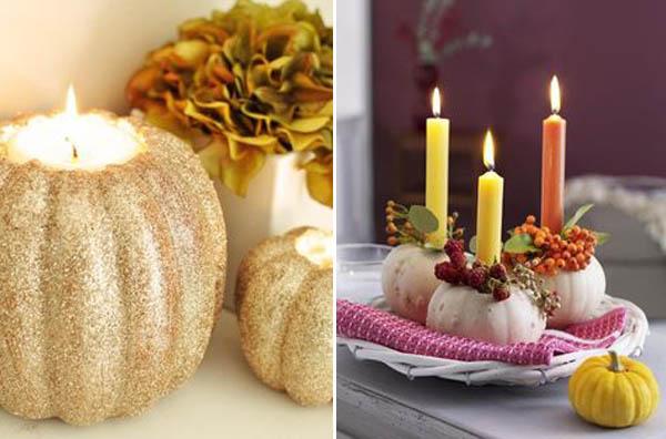 zucche matrimonio candele