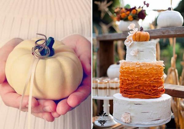 zucche matrimonio porta fedi cake topper
