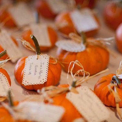Zucche per un matrimonio in autunno