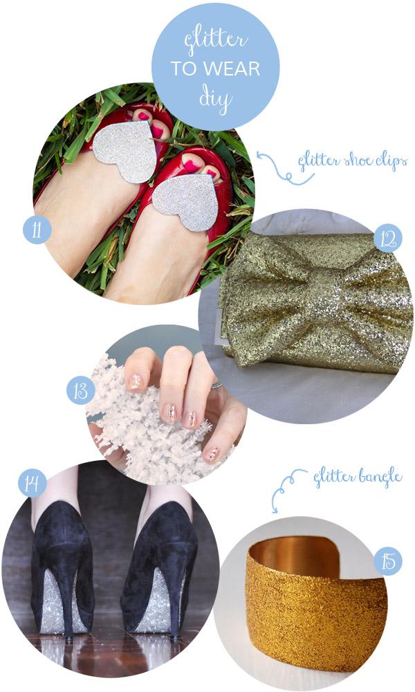 accessori glitter fai da te
