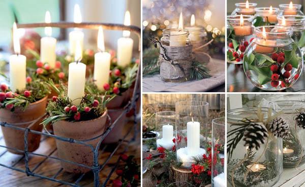 decorazioni natalizie candele