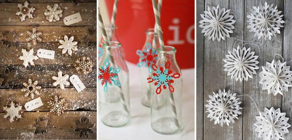 decorazioni natalizie fiocchi di neve
