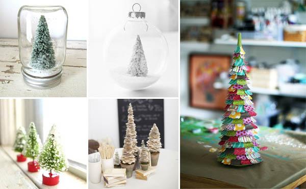 decorazioni natalizie mini alberi di natale
