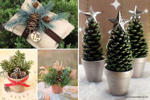 Decorazioni natalizie - Decorazioni con pigne ...