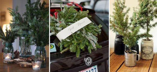 decorazioni natalizie rami