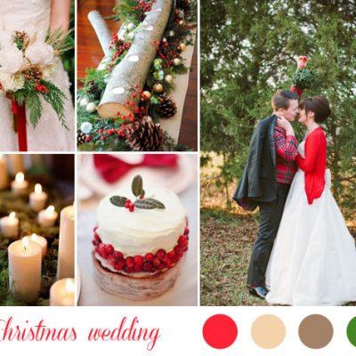 {Inspiration board} Verde e rosso per un matrimonio natalizio