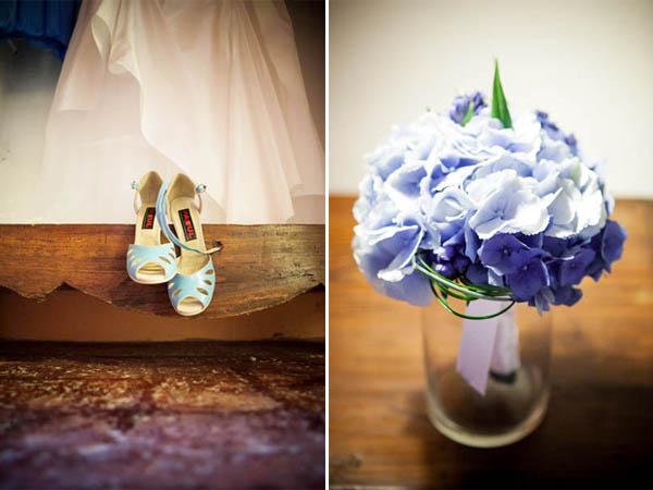 Matrimonio Azzurro Ortensia : Matrimonio azzurro con libri e ortensie