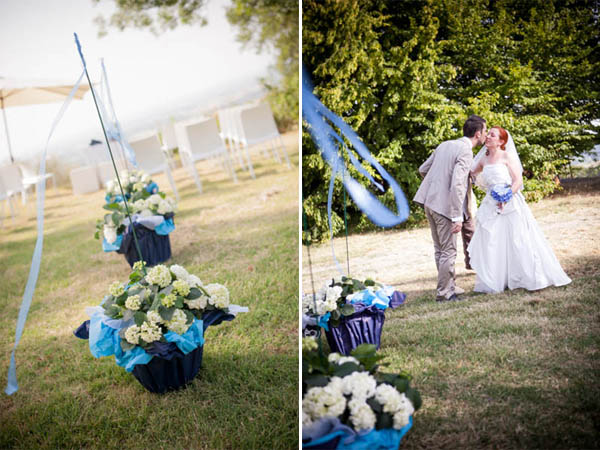 Matrimonio Azzurro Quotes : Matrimonio azzurro con libri e ortensie