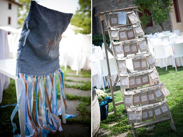 Matrimonio In Jeans : Matrimonio azzurro con libri e ortensie