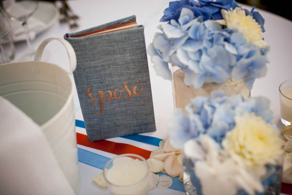 Inviti Matrimonio Azzurro : Matrimonio azzurro con libri e ortensie