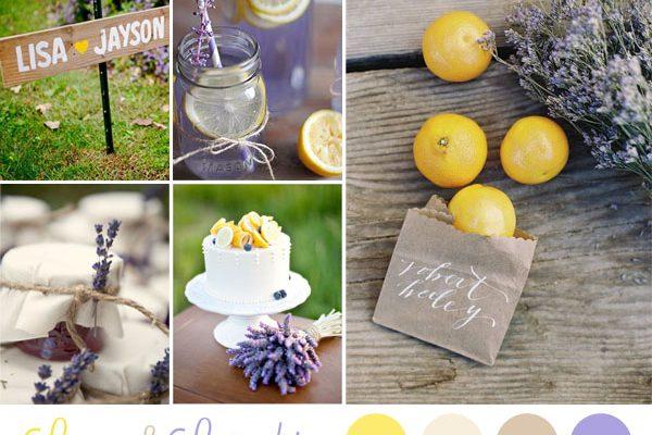 {Inspiration board} Limoni e lavanda