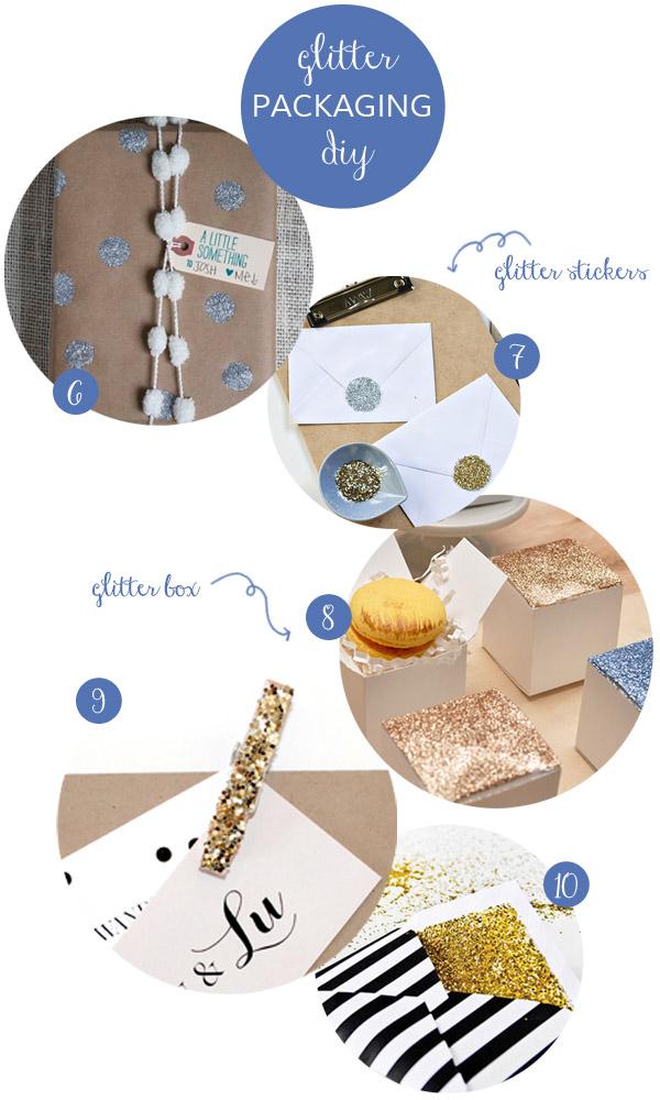 packaging glitter fai da te