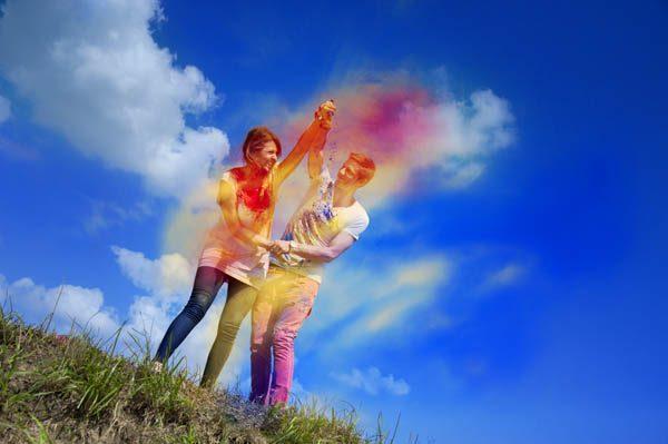 {Engagement session} Lotta colorata: Emanuela e Silvio