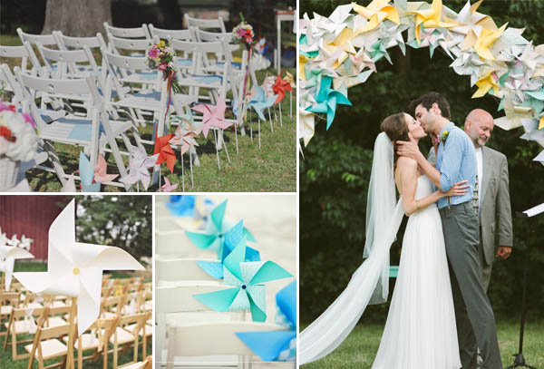 matrimonio girandole cerimonia