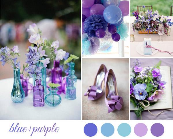 Allestimento Matrimonio Azzurro : Inspiration board matrimonio viola e azzurro wedding