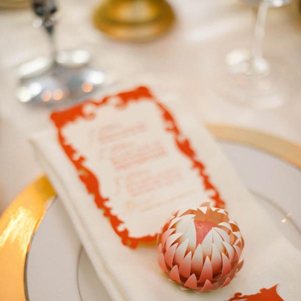 segnaposto matrimonio fiore di carta fai da te