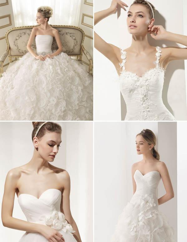 abiti da sposa fiori trend 2014
