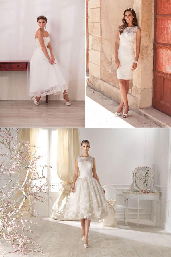 abito da sposa corto trend 2014