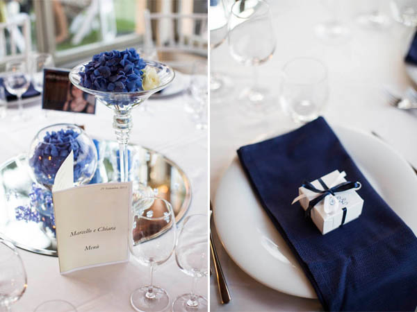 Tema Matrimonio Blu E Bianco : Un matrimonio bianco e blu nella campagna bolognese