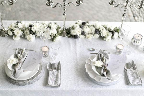 Matrimonio In Bianco : Inspiration shoot} matrimonio invernale in bianco e argento