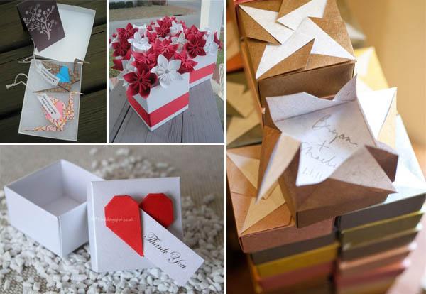 matrimonio origami bomboniere