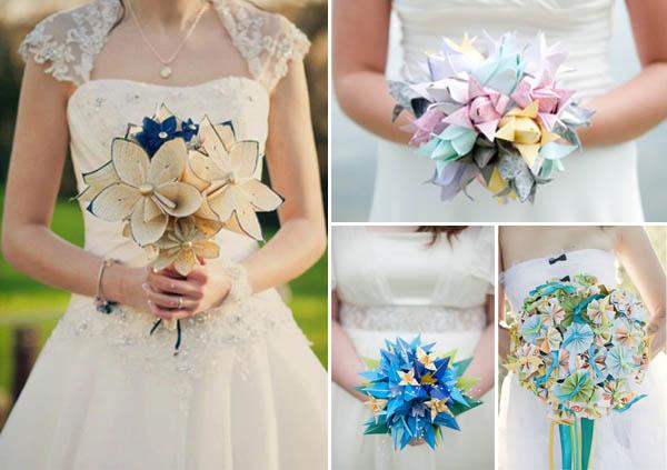 matrimonio origami bouquet